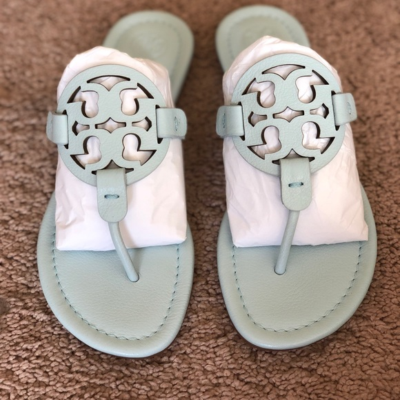 c26fcaeeb95304 Tory Burch Miller Sandals pale blue